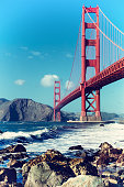 Golden Gate Bridge, San Francisco, USA, filmic