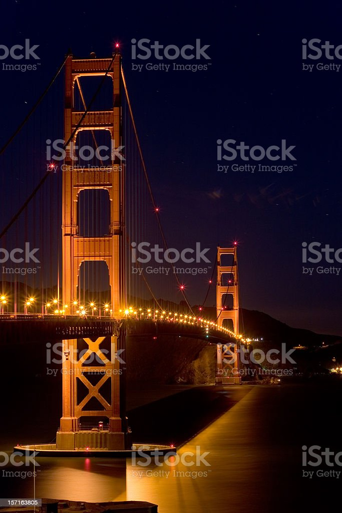 Golden Gate Bridge, San Francisco without moon royalty-free stock photo