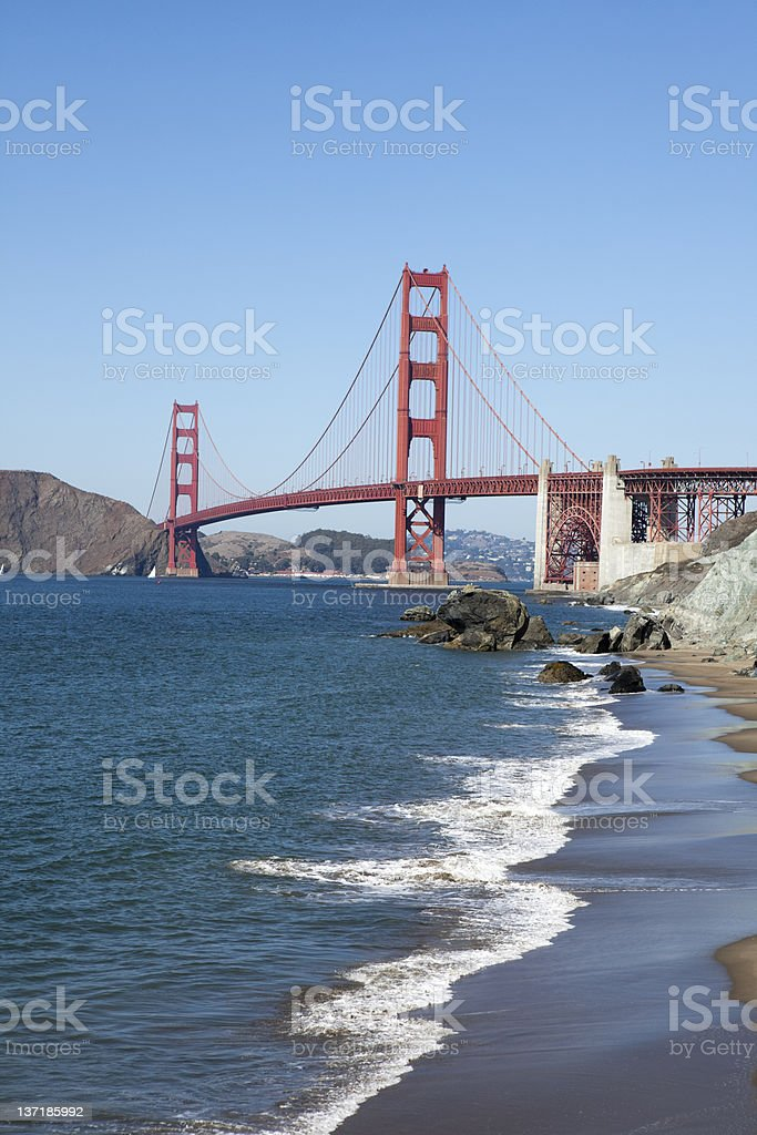 Golden Gate Bridge, Scenes of San Francisco, California, USA royalty-free stock photo