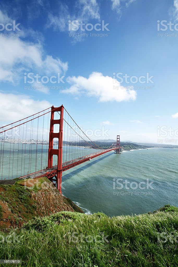 Golden Gate Bridge Sky and Clouds royalty-free stock photo