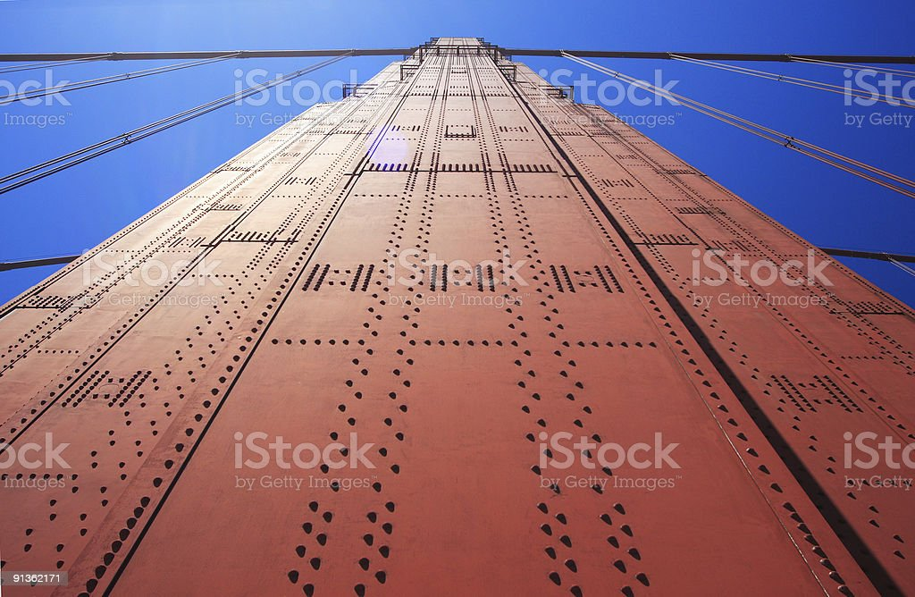 Golden Gate Bridge, Straight Up! stock photo