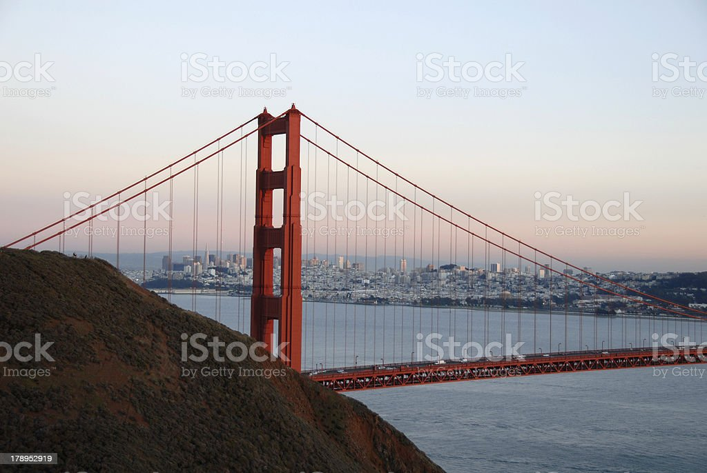Golden Gate Bridge, Sunset royalty-free stock photo