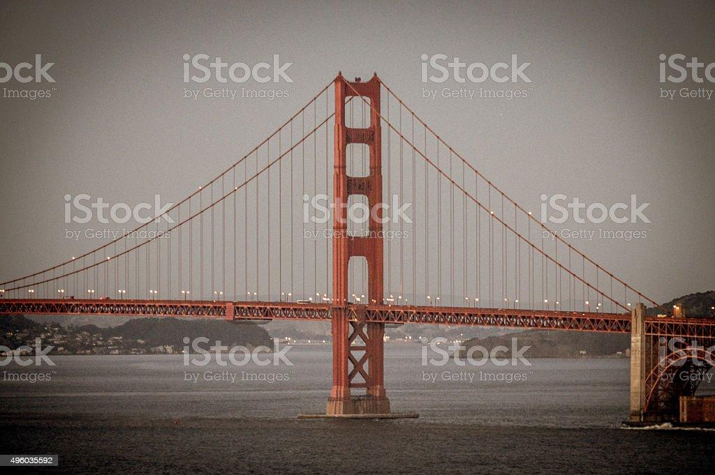 Golden Gate Bridge - Sunset stock photo