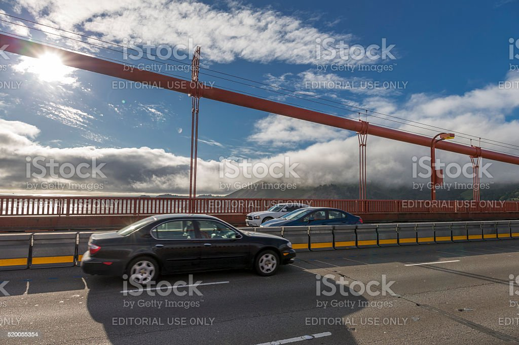 Golden Gate Bridge surface lever , San Francisco stock photo