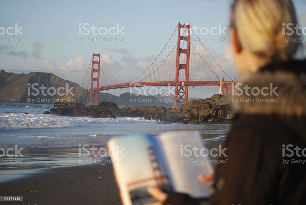 Golden Gate Bridge Tourist stock photo