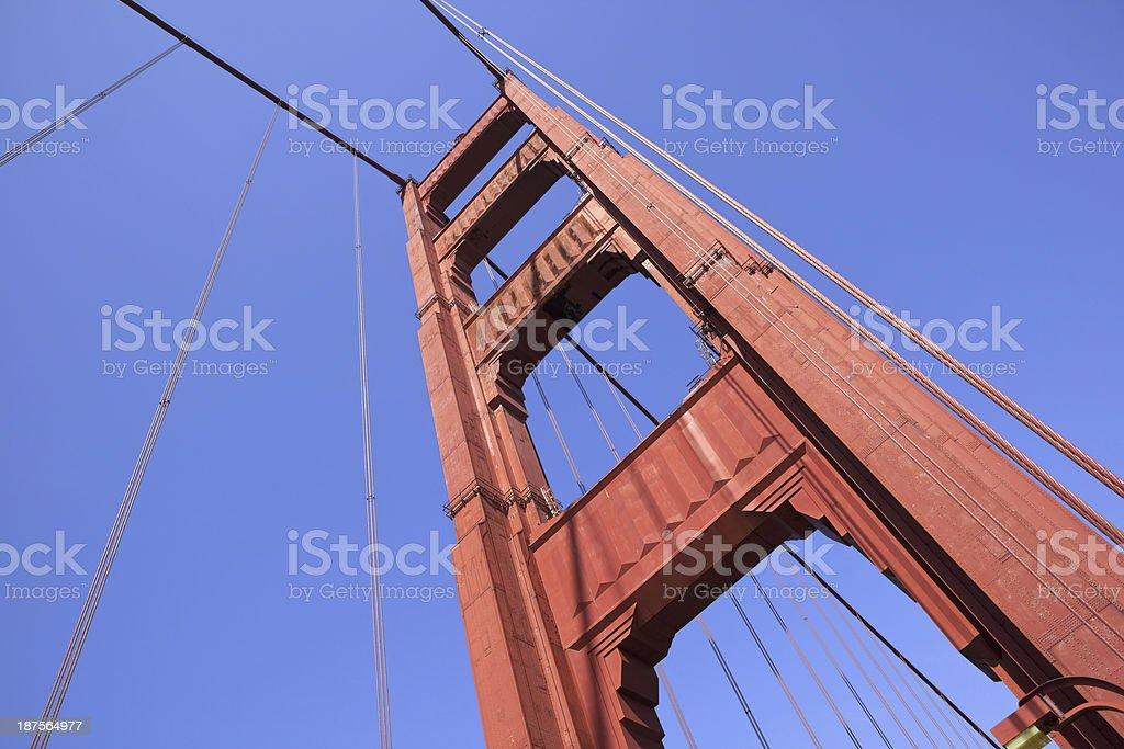 Golden Gate Bridge Tower royalty-free stock photo