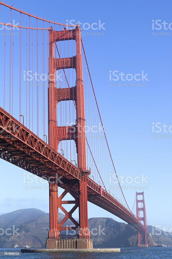 Golden Gate Bridge Tower stock photo
