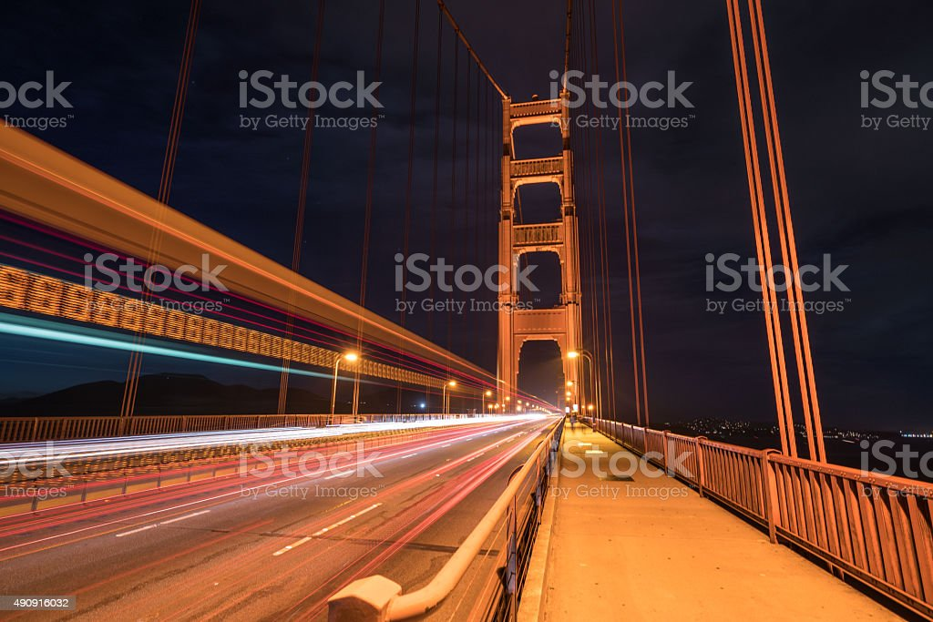 Golden Gate Bridge Traffic stock photo
