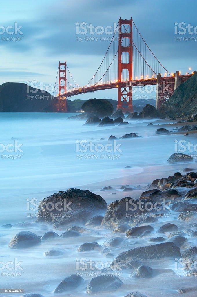 Golden Gate Bridge, Twilight Mist royalty-free stock photo