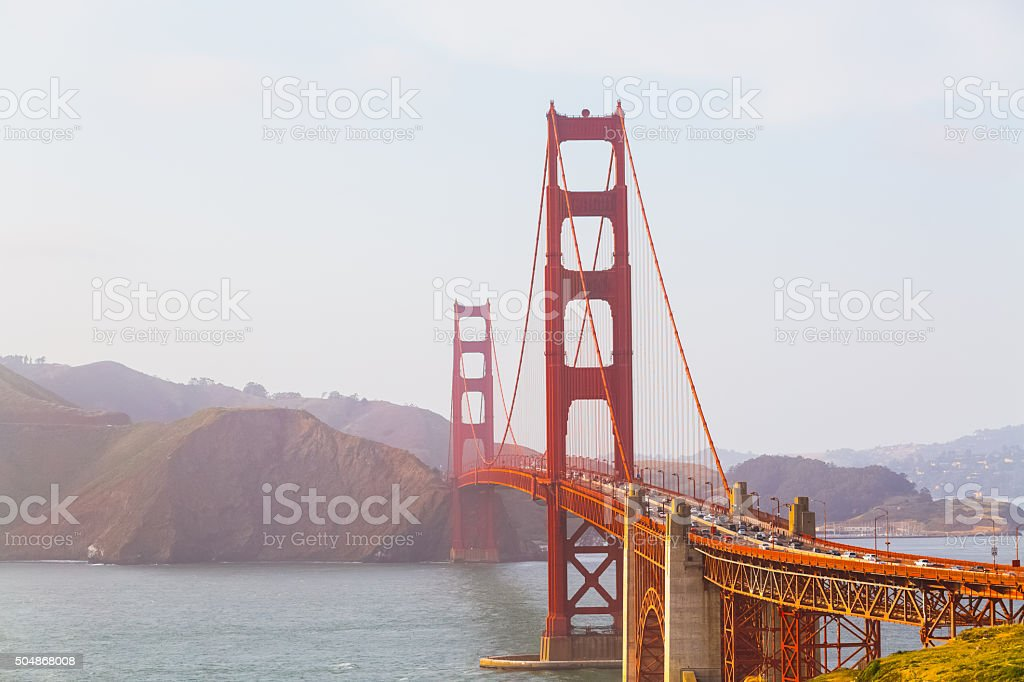 Golden Gate Bridge view, San Francisco stock photo
