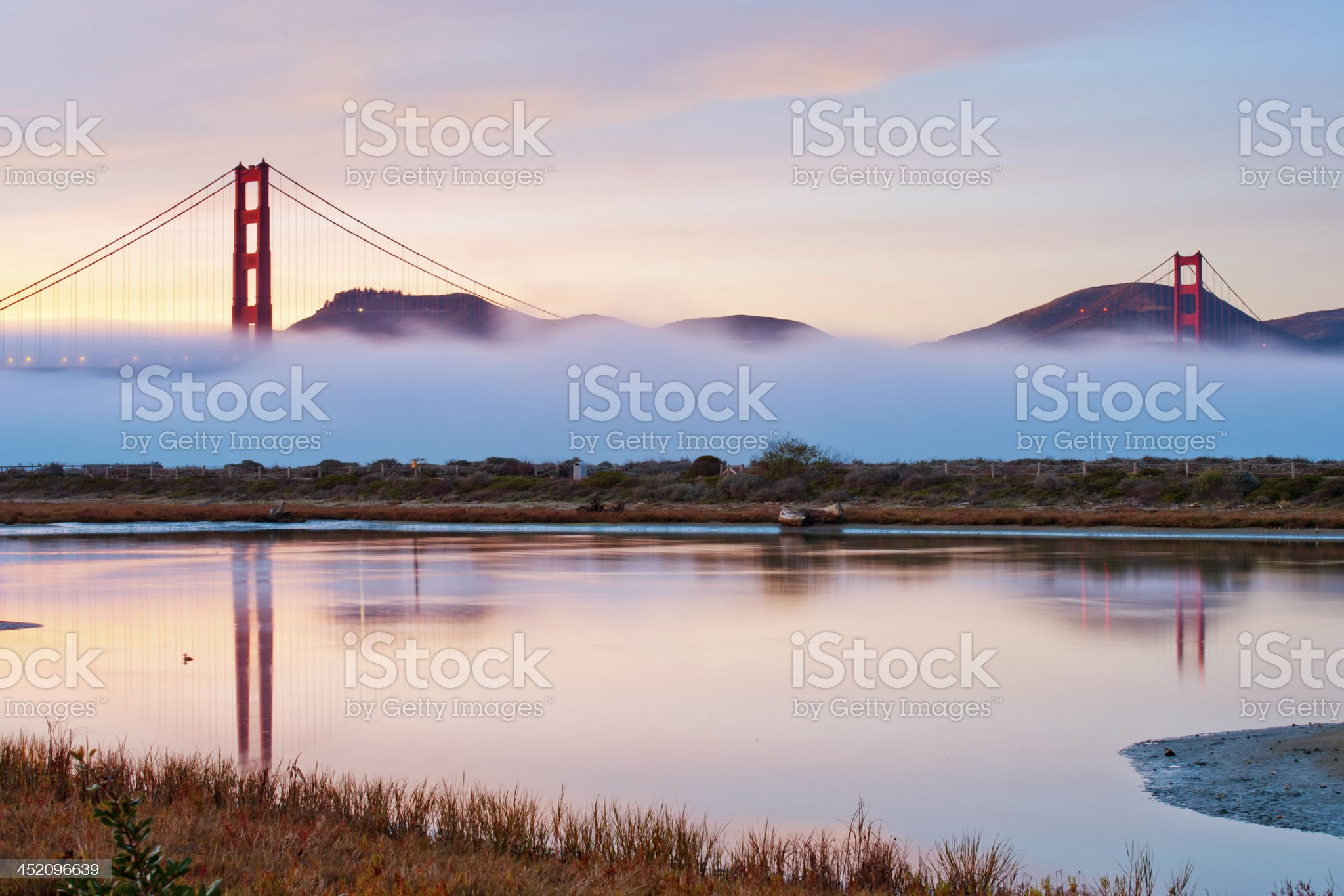 Golden Gate Bridge with fog royalty-free stock photo