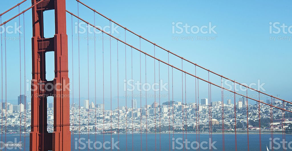 Golden Gate Bridge with San Francisco Skyline royalty-free stock photo