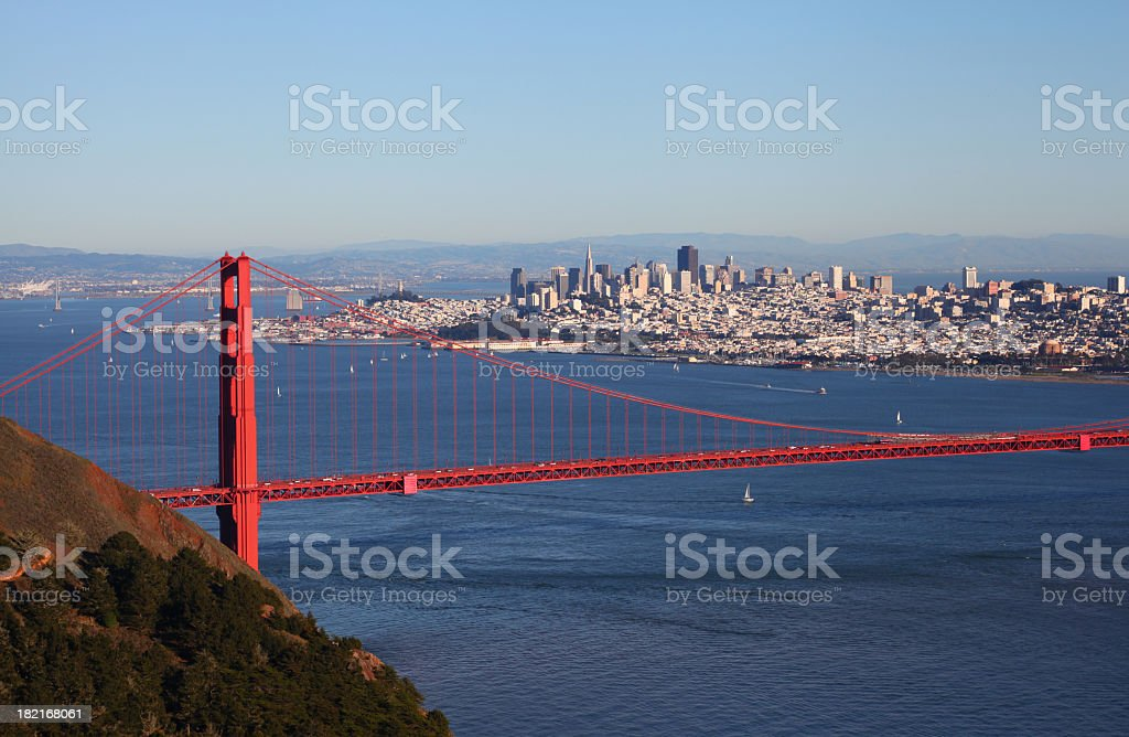 Golden Gate Clear View royalty-free stock photo