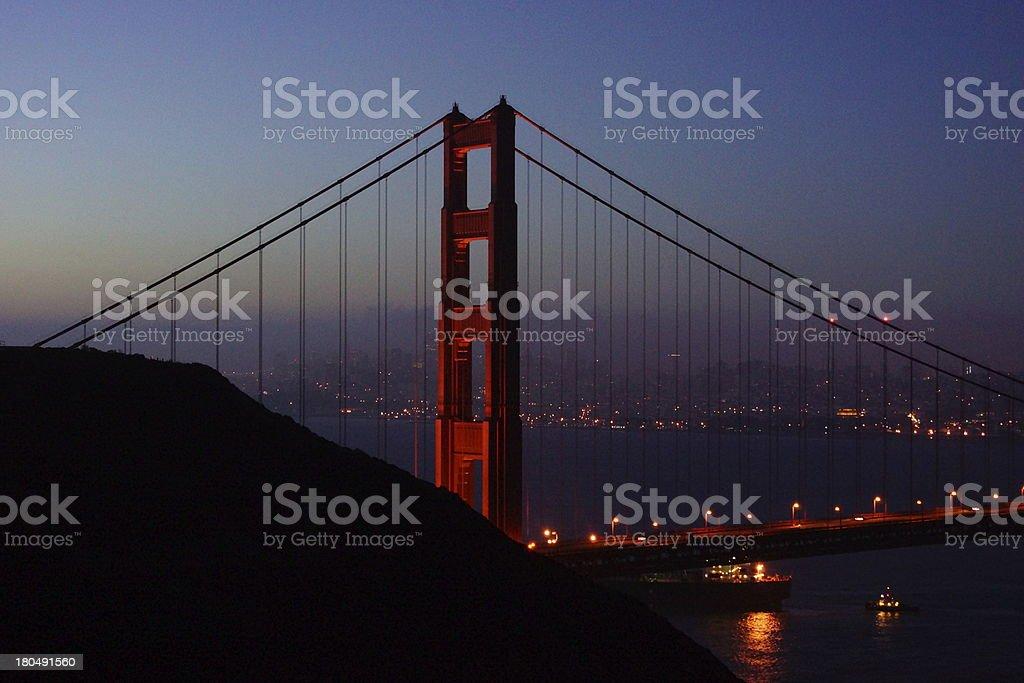 Golden Gate Dawn stock photo