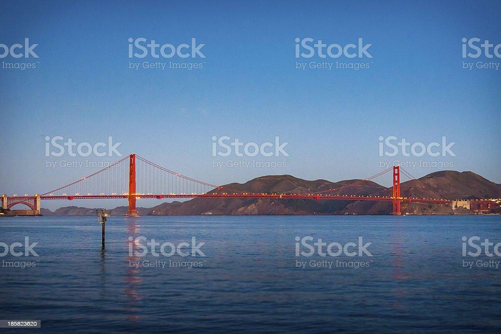 Golden Gate Dawn royalty-free stock photo