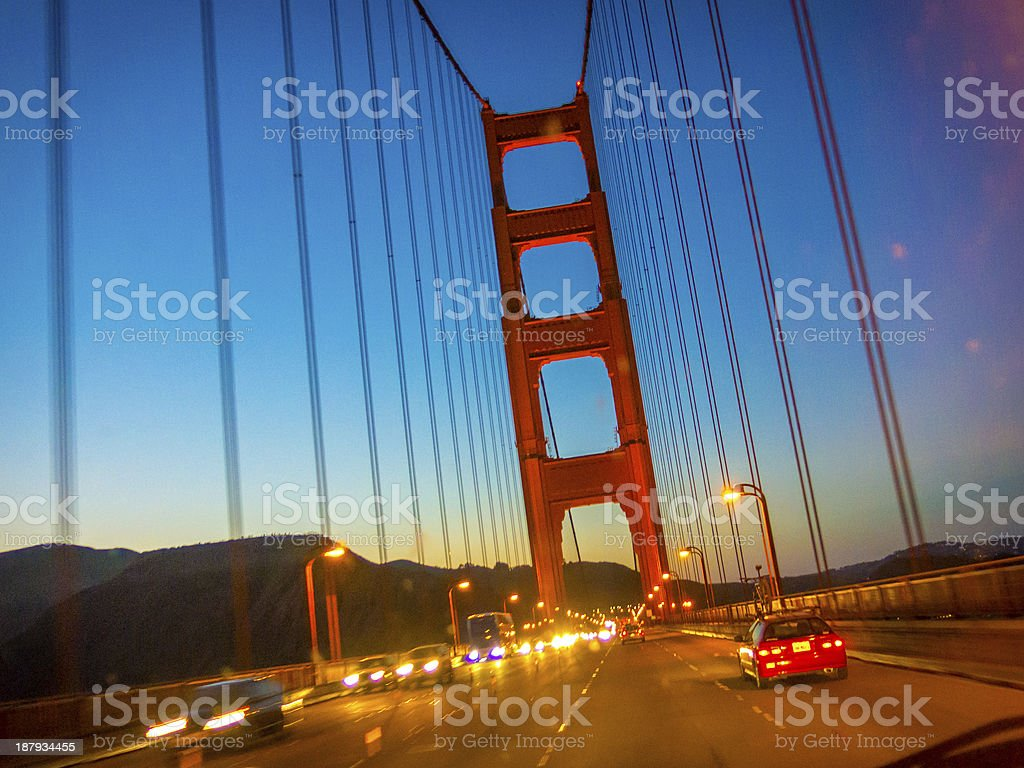 Golden Gate Dusk royalty-free stock photo