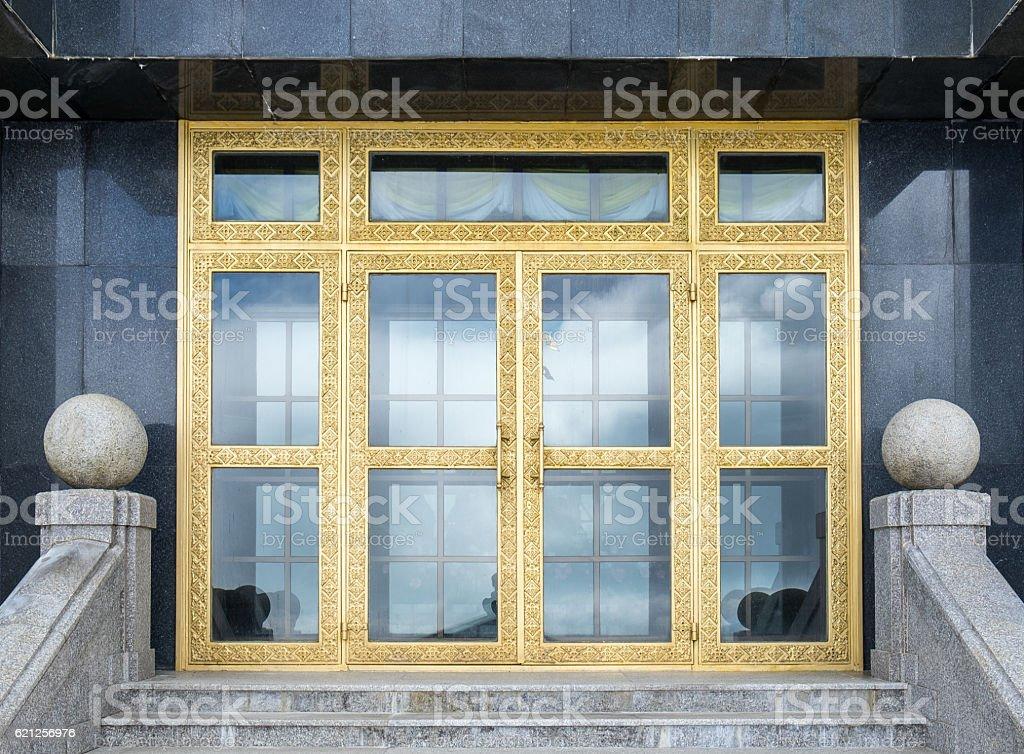 Golden gate elegant in pagoda stock photo