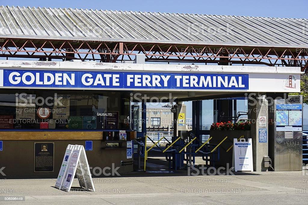 Golden Gate Ferry Terminal stock photo