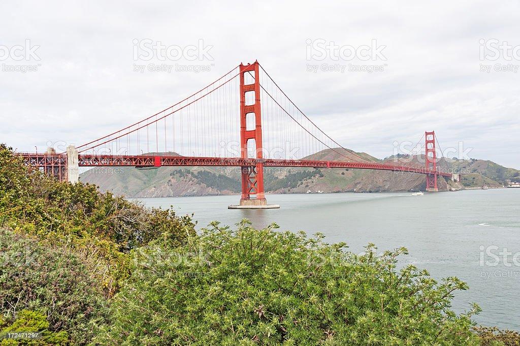 Golden Gate from Hillside royalty-free stock photo