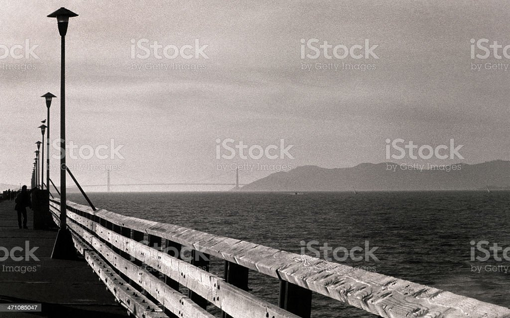 Golden Gate from the Berkeley Pier stock photo