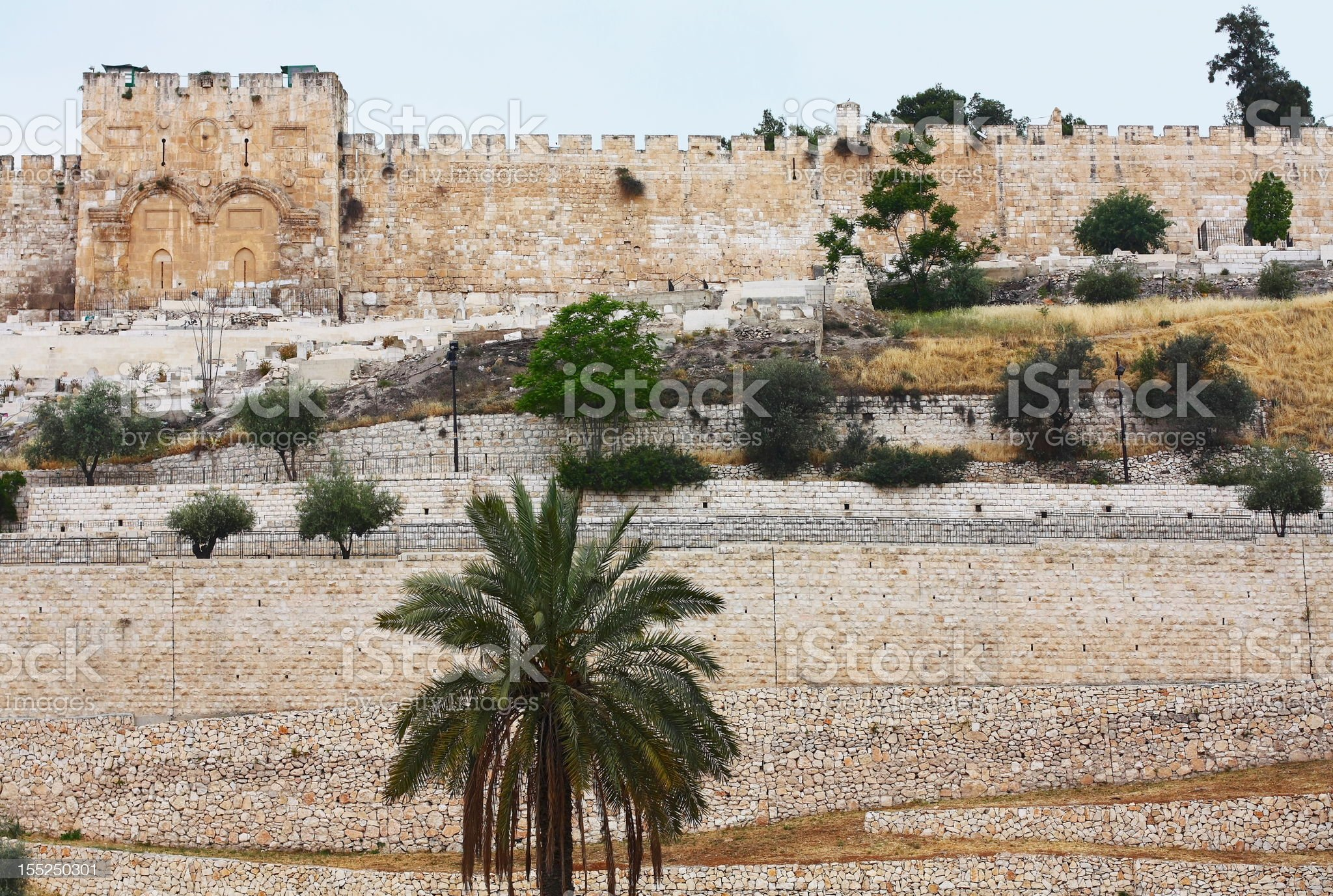 Golden Gate in Jerusalem royalty-free stock photo