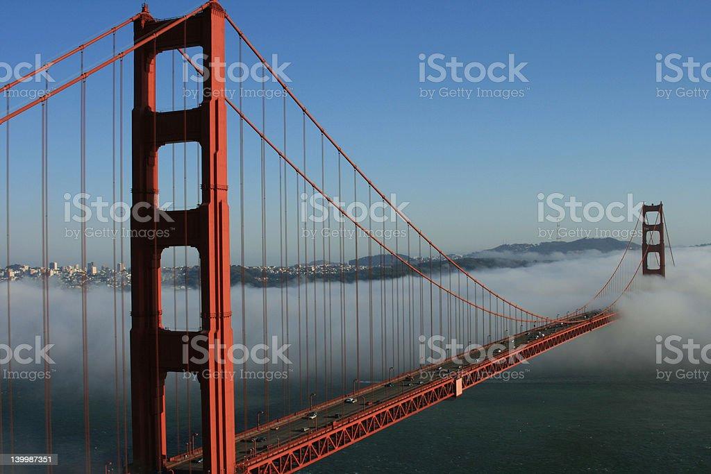 Golden Gate in the Fog stock photo