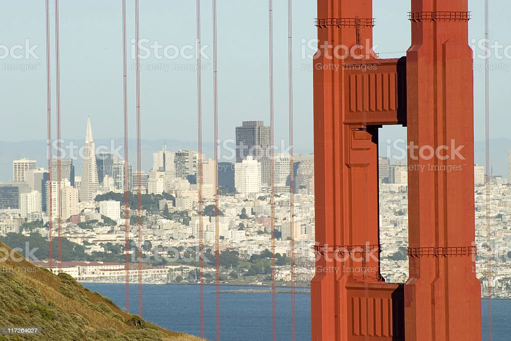 Golden Gate Marin Tower royalty-free stock photo