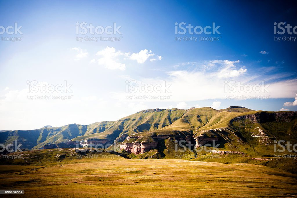 Golden Gate National Park in South Africa stock photo