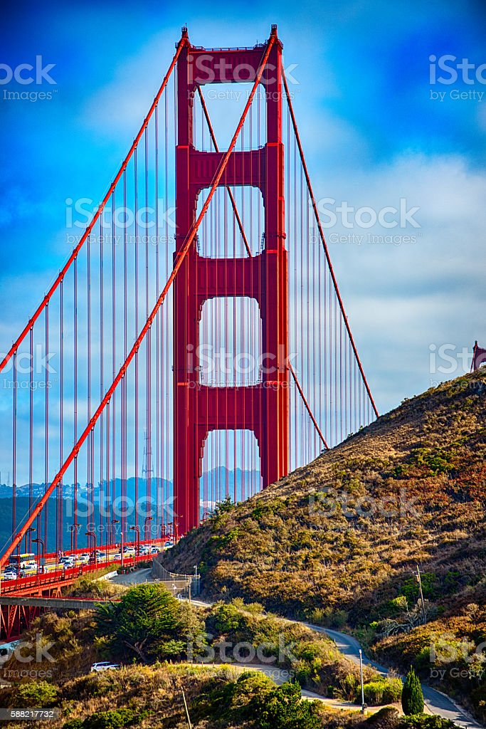 Golden Gate North Tower stock photo