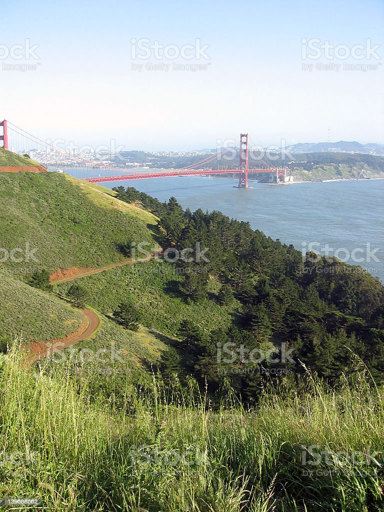 Golden Gate of the Headlands royalty-free stock photo