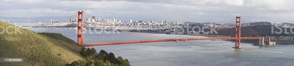 Golden Gate Panorama royalty-free stock photo