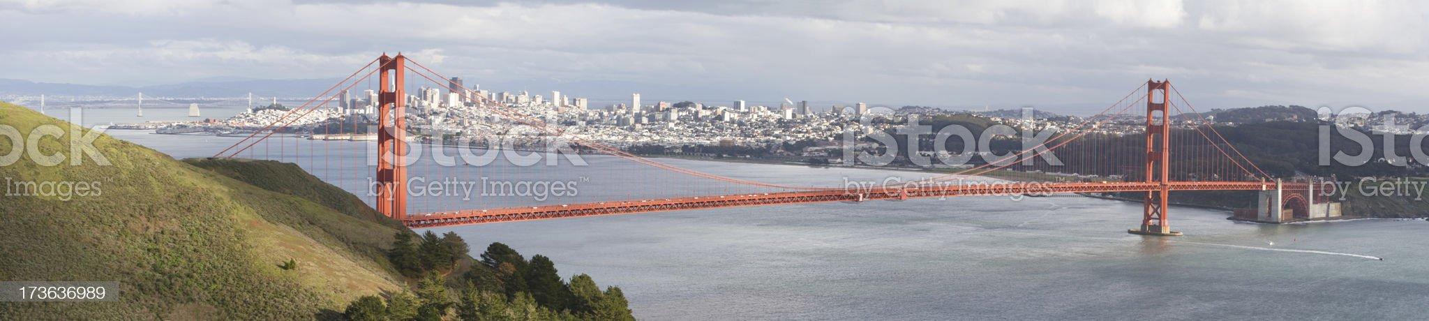 Golden Gate Panorama royalty-free stock photo
