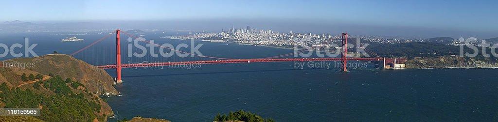 Golden Gate Panoramic royalty-free stock photo