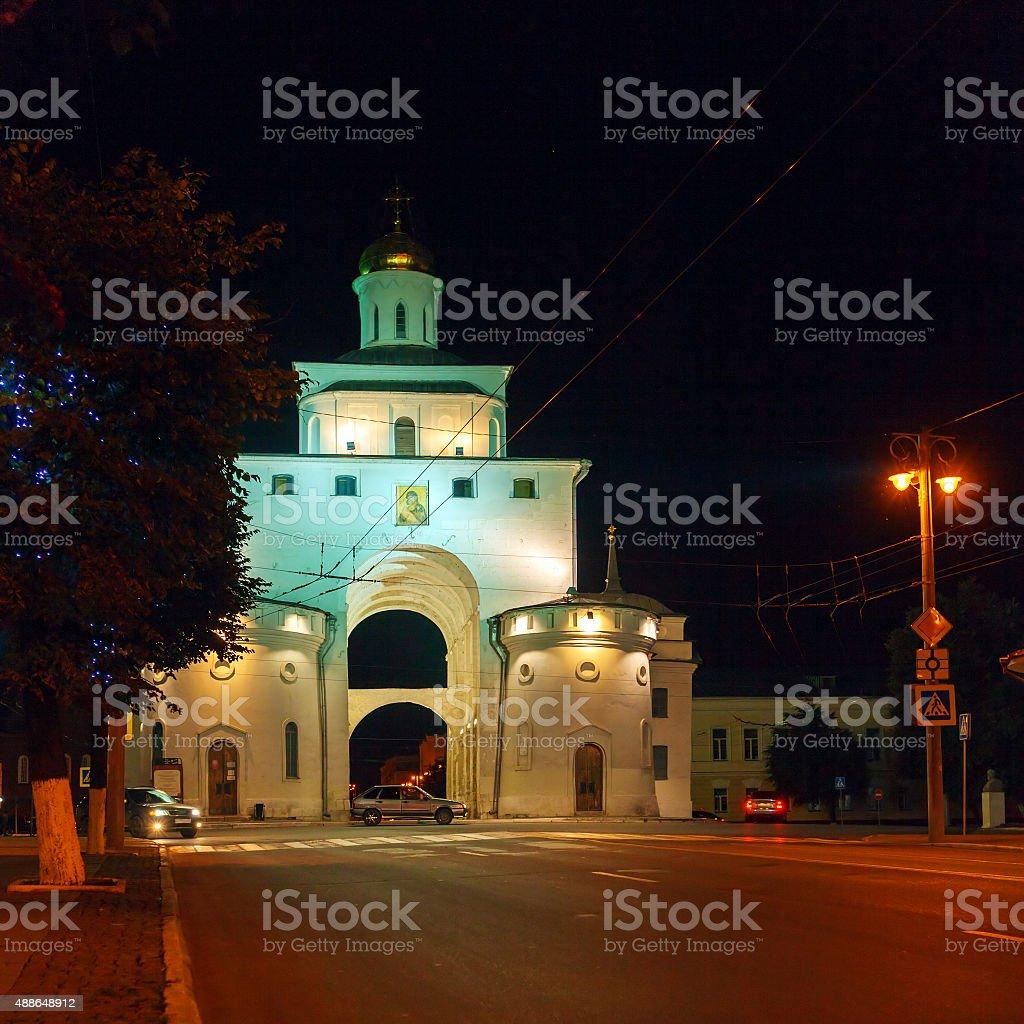Golden Gate (1164), part of City Wall, Vladimir stock photo