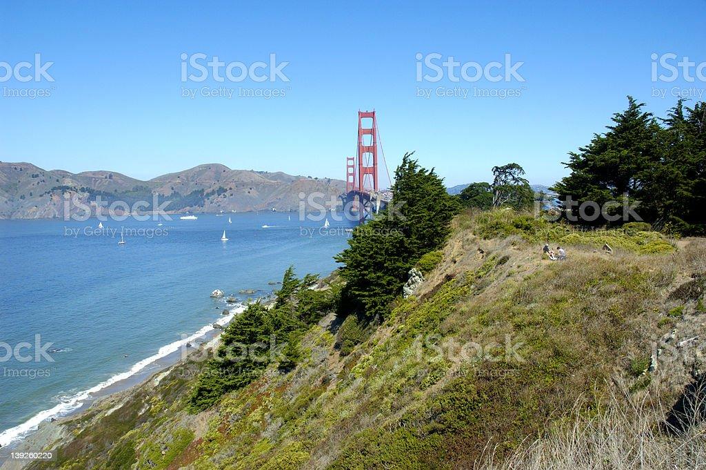 Golden Gate Picnic stock photo