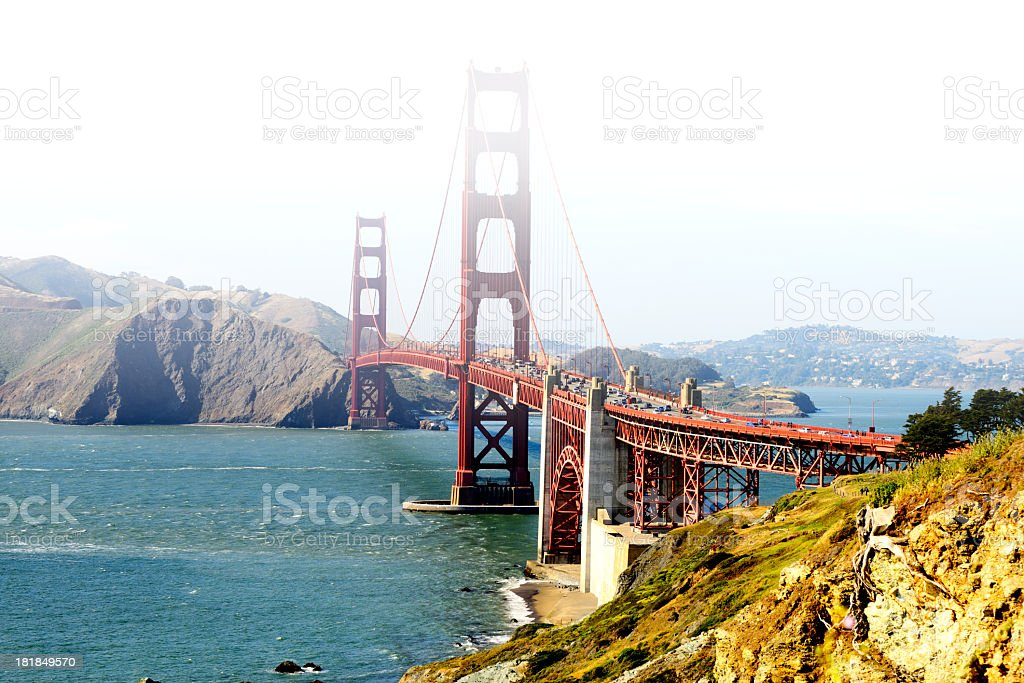 Golden Gate Rush Hour, San Francisco royalty-free stock photo