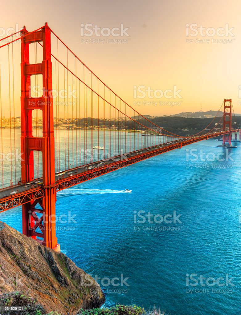Golden Gate, San Francisco, California, USA. stock photo