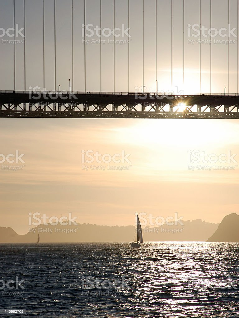 Golden Gate Silhouette Closeup royalty-free stock photo
