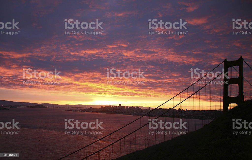 Golden Gate Sunrise - San Francisco, California royalty-free stock photo