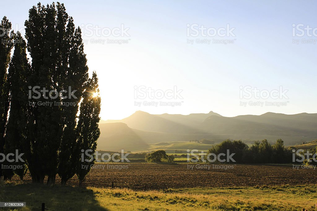 Golden Gate sunset landscape view - South Africa stock photo