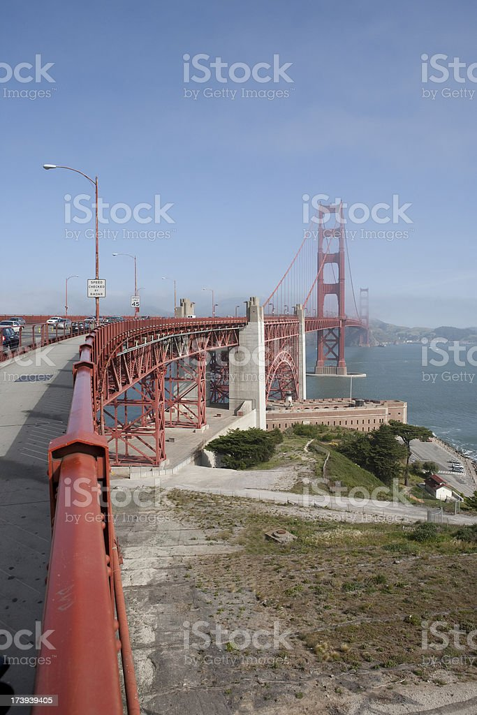 Golden Gate Vertical royalty-free stock photo