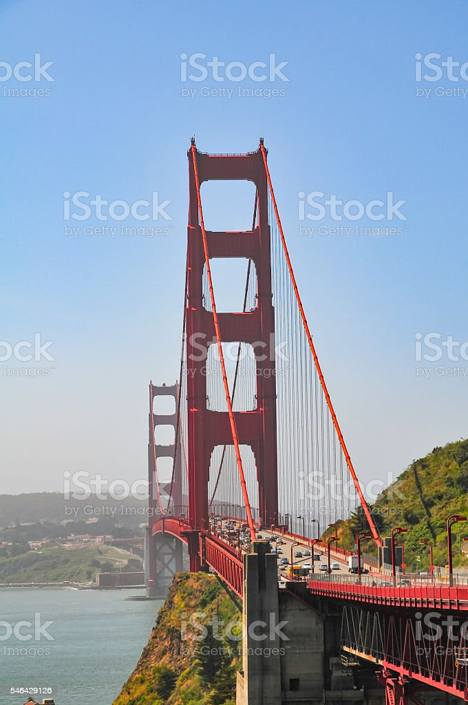 Golden Gate Vertical stock photo