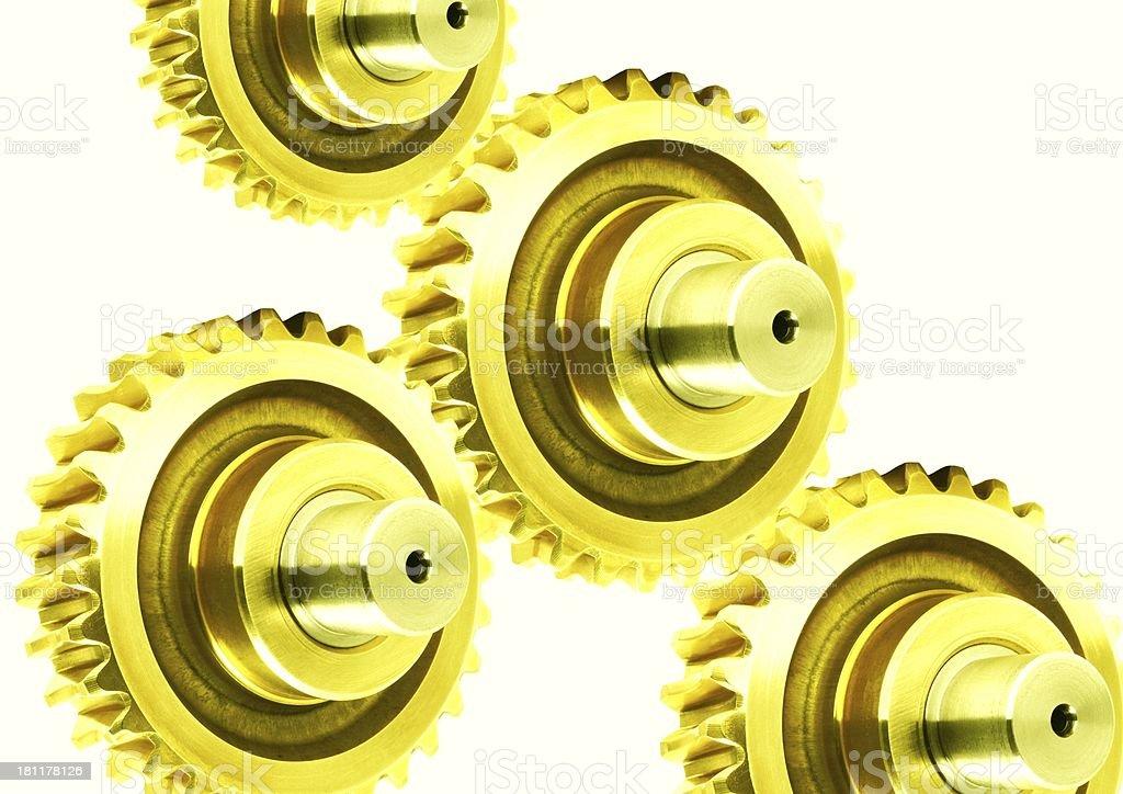 golden gears stock photo