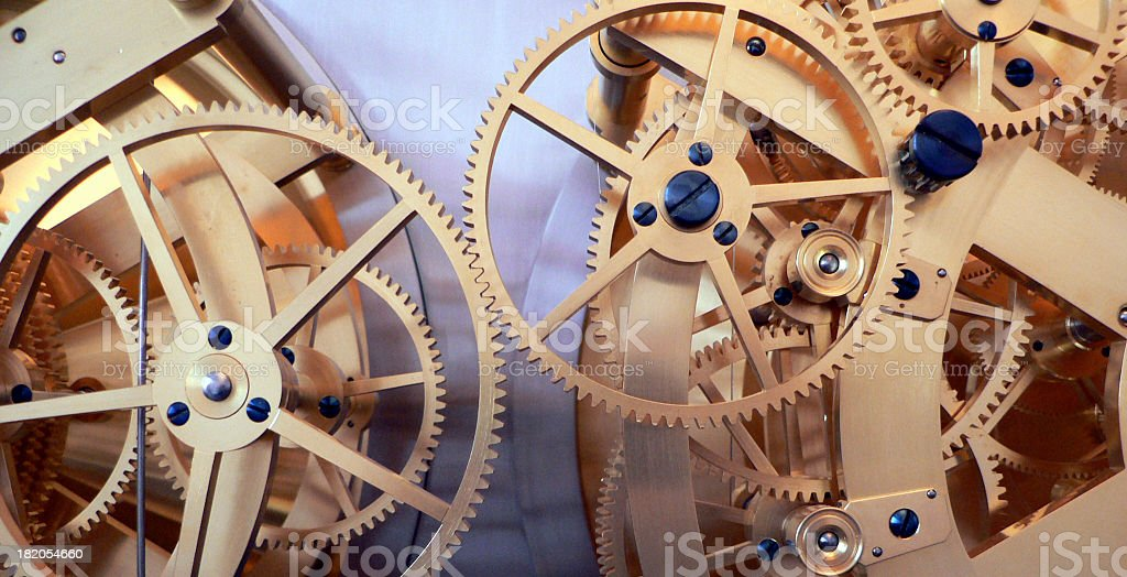 golden gears royalty-free stock photo