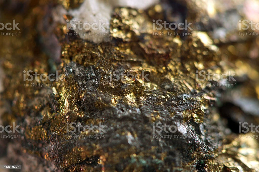 Golden gem background. Macro stock photo