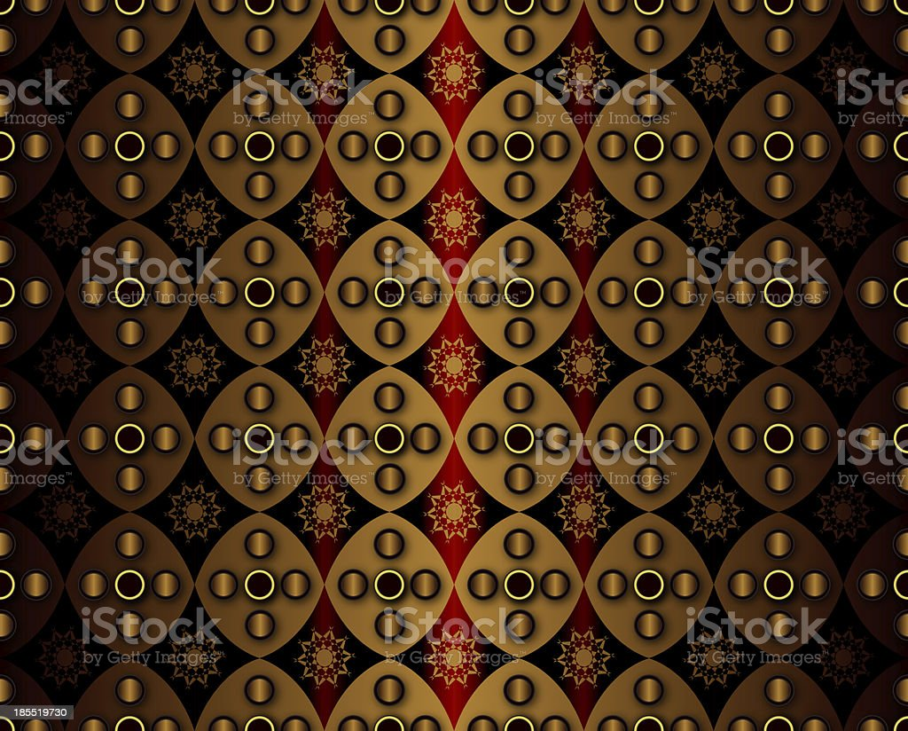 Golden Geometry Pattern royalty-free stock photo