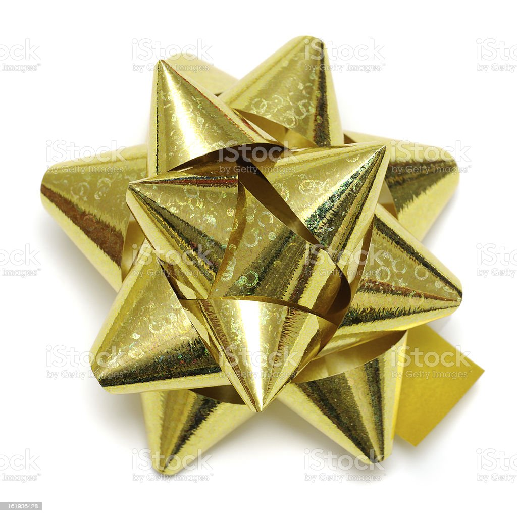 Golden Gift Bow royalty-free stock photo