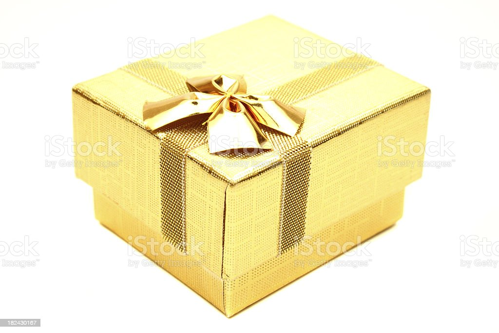 Golden Gift box royalty-free stock photo