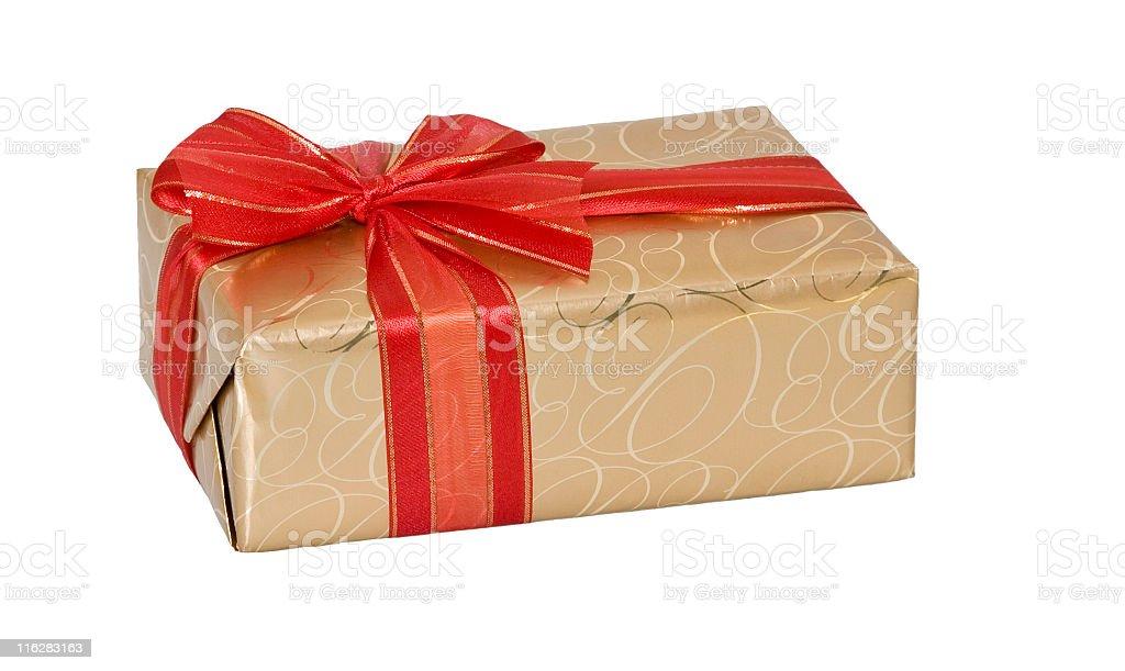 Golden Gift Wrap stock photo