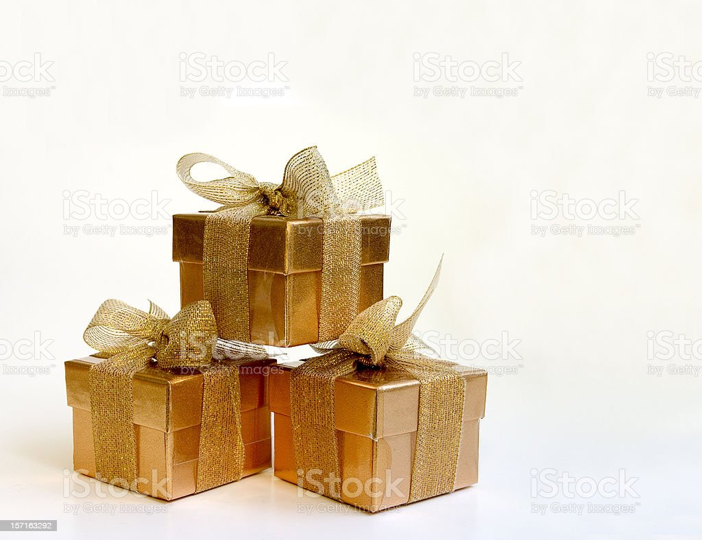 Golden Gifts royalty-free stock photo